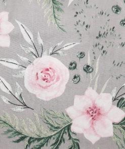 abazur szary w kwiaty