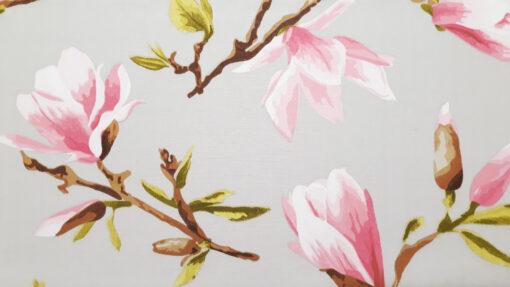 abażur szary kwiaty