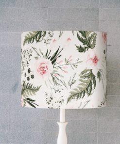 abazur biały w kwiaty
