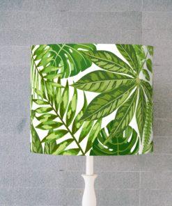 abażur zielone liscie