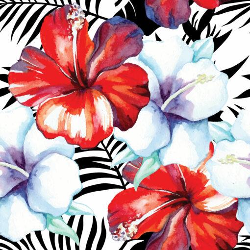 abażur kwiaty