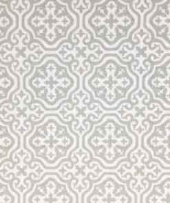 abazur szaro biały