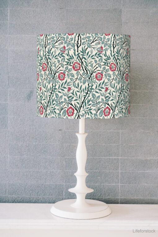 abażur do lampy stołowej w kształcie walca william moris