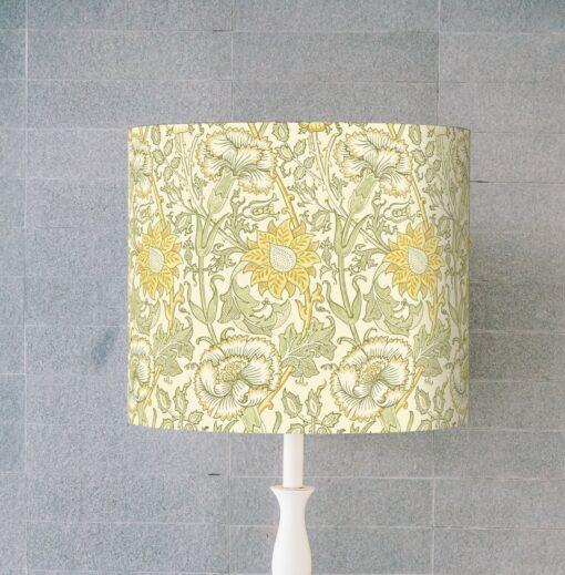 abażur żółty do lampy stołowej 25 cm e27/e14