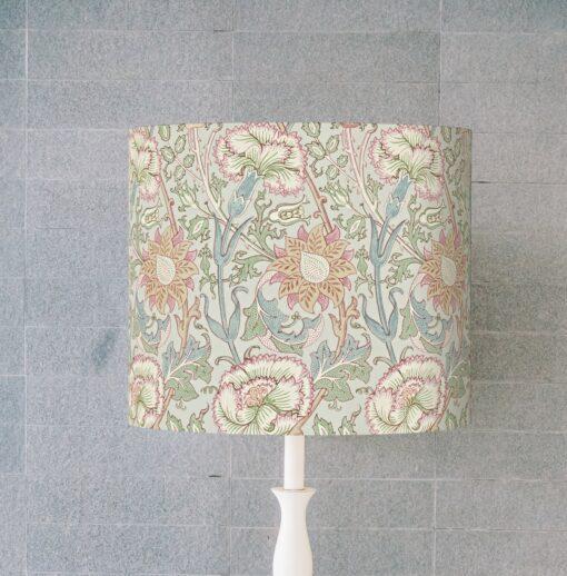 abażur różowy do lampy stołowej vintage cylinder