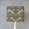 abażur niebieski walec vintage 25 cm