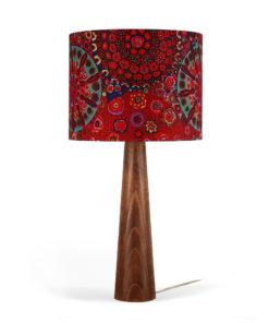 lampa drewniana stołowa