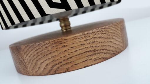 lampa stołowa drewniana