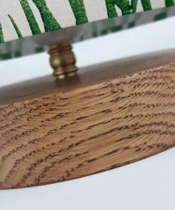 lampa stołowa drewniana do salonu