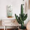 lampa stołowa z abażurem we wzór ważek drewniana do salonu