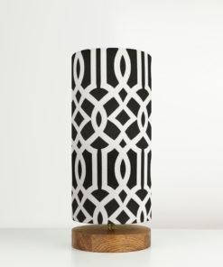 lampa stołowa czarna-biała