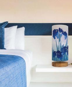 lampa stolowa niebieska