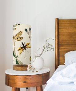 Lampa salonowa z abażurem vintage