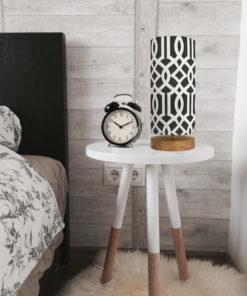 lampa dekoracyjna czarna-biała