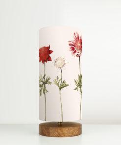 lampa do sypialni drewniana z abażurem