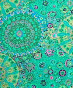 abażur zielono turkusowy w kształcie cylindra 35 cm e27 e14
