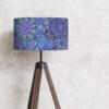 abażur niebieski do lampy podłogowej