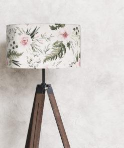 abażur biały w kwiaty do lampy stojącej 35 cm