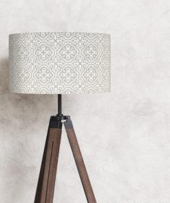 abażur szary na lampę stojącą 35 cm