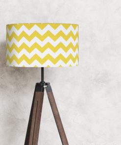 abażur żółty zygzak na lampę stojącą 35 cm