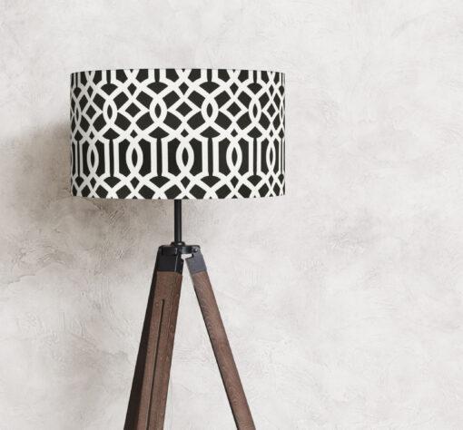 abażur czarny imperial trellis na lampę stojącą 35 cm