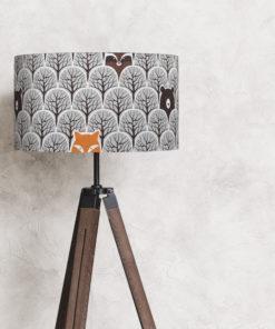 abażur na lampę stojącą 35 cm szary