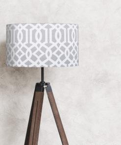 abażur na lampę stojącą imperial trellis szary