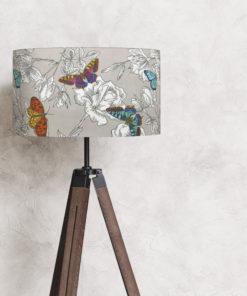 abażur szary do lampy stojącej podłogowej 35 cm