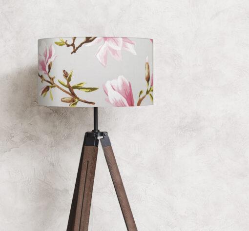 abażur na lampę stojącą szary 35 cm