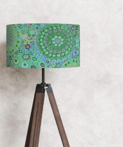 abażur na lampę stojącą podłogową turkusowy 35 cm