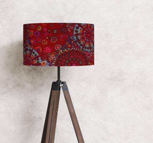 abażur czerwony do lampy podłogowej 35 cm