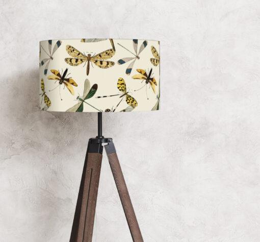 abażur na lampę stojącą beżowy 35 cm