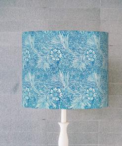 abażur niebieski do lampy stołowej