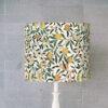 abażur do lampy stołowej w kształcie cylindra żołto zielony vintage