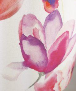 abażur do lampy stołowej w różowe kwiaty