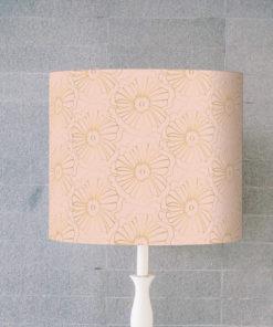 abażur do lampy stołowej różowy cylinder e27/e14