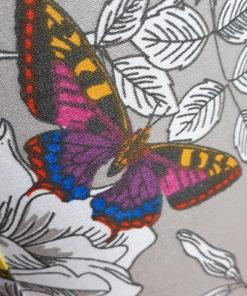 abażur do lampy stołowej szary w kolorowe motyle