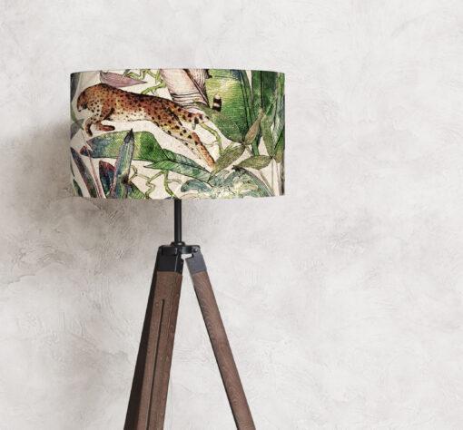 abażur do lampy stojącej cylindryczny lamparty