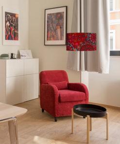 abażur czerwony do lampy podłogowej