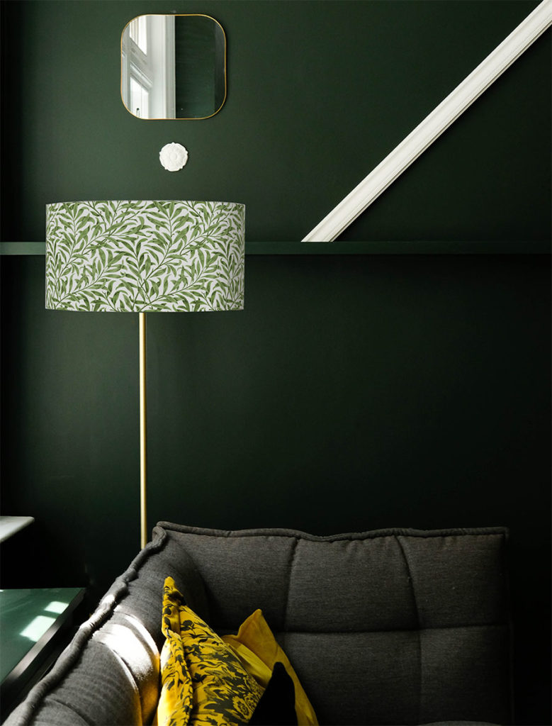 abazur na lampę podłogową z materiału cylindryczny