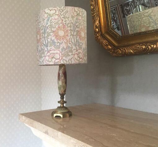 abażur różowy do lampy vintage