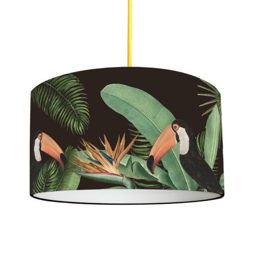 abażur do lampy sufitowej czarny tropikalny