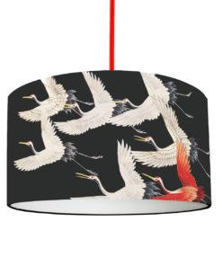 Abażur czarny w żurawie do lampy wiszącej