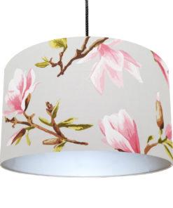 abażur do zwisu szary w magnolie