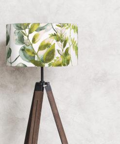 abażur na lampę podłogową zielone liście
