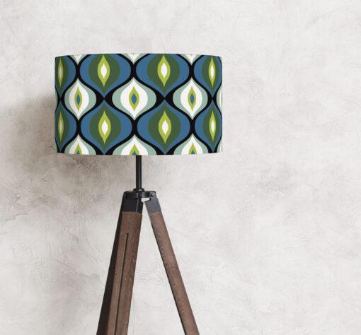 abażur niebieski do lampy w kształcie cylindra
