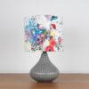 lampa ceramiczna szara stołowa biurkowa
