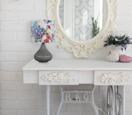 lampa ceramiczna nocna biurkowa z abażurem