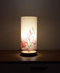 Lampa stołowa z abażurem, dekoracyjna Magnolia