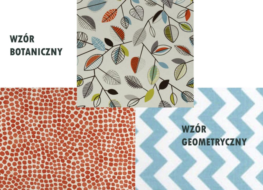 dobieranie wzorów botaniczne i geometryczne